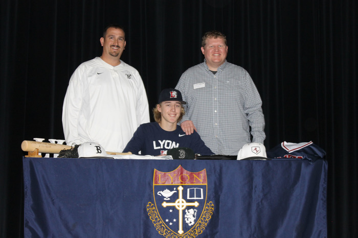 Hayden with coaches