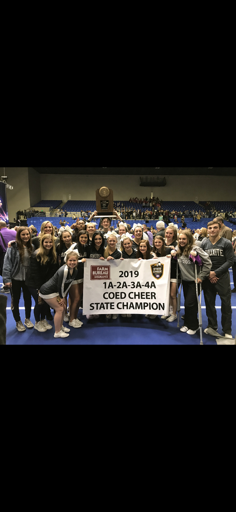 Bauxite High School Cheer are State Champions!