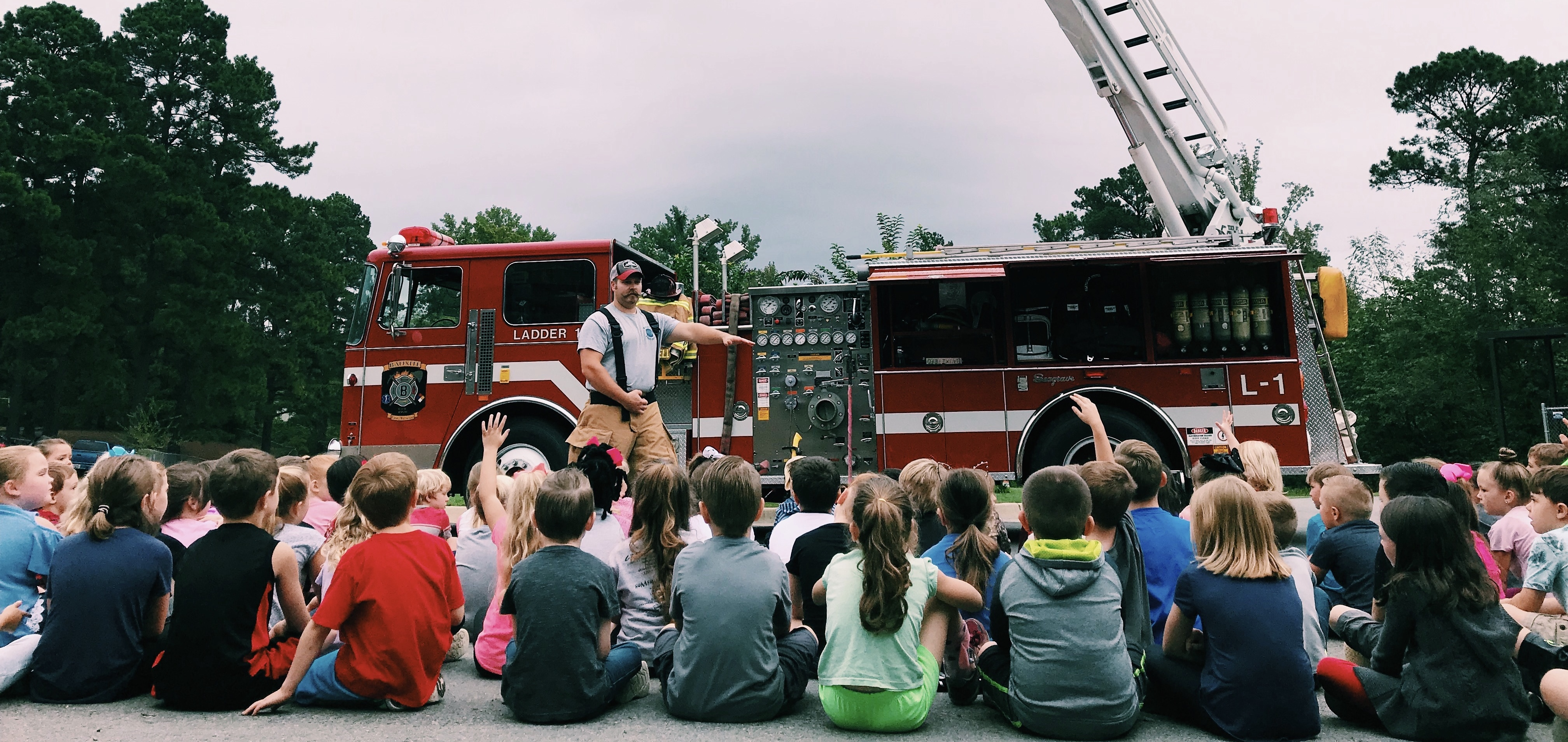 1st graders learning about Fire Safety!